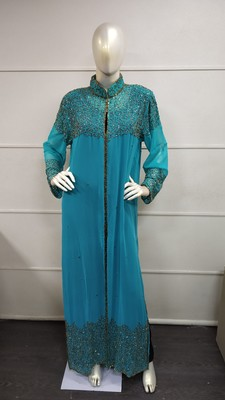 MOROCCAN DUBAI KAFTAN ABAYA DRESS FANCY LONG GOWN BEACH WEAR JACKET 0746