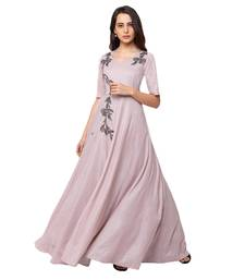 Sheczzar Pink Color Simmer Floor Length  Party wear Gown.