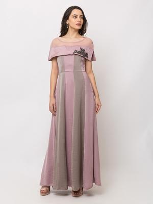 Sheczzar Pink Color GEORGETTE Floor Length  Party wear Gown.