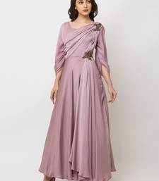 Sheczzar Pink Color Crepe Floor Length  Party wear Gown.