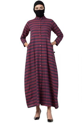 Musheco-Front Open Dress in Poly Cotton