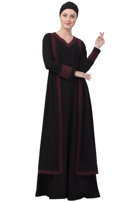 Musheco-Dual Layer Abaya Dress