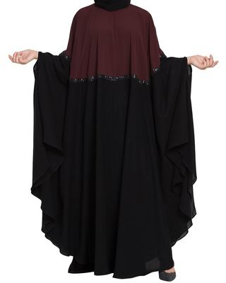 Dual Color Irani Kaftan-Fashionable Abaya