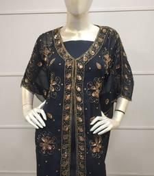 Kaftan Tunic Mini Dress Caftan Boho Gown Beach Cover Up Casual Holiday 5416