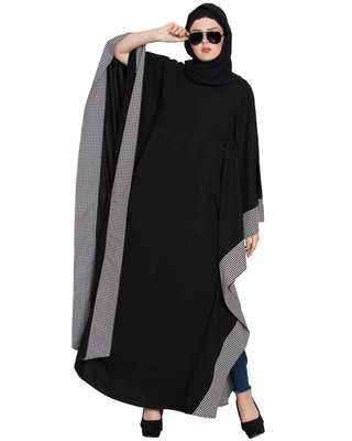 """ZEHRA- BLACK AND WHITE  FARASHA KAFTAN"""