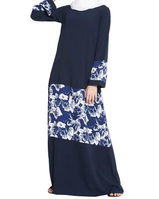 Floral Long Dress- Not An Abaya