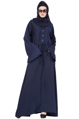 ABAYA DRESS FOR WOMAN IN NIDA - NAVY BLUE