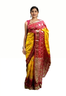 Traditional-Rajasthani-Bandhani-Zari-Saree
