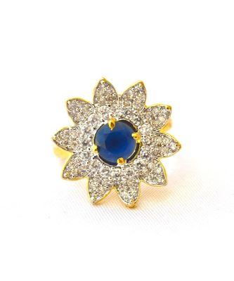 Sapphire Diamond Cocktail Ring