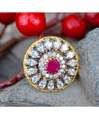 Victorian Diamond Finger Ring with Ruby
