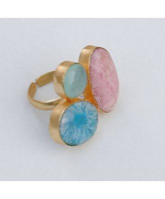 Multi Color Gemstone Cocktail Ring