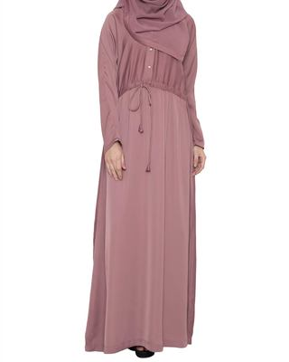 BISMA- DRESS LIKE ABAYA -PUCE PINK