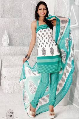 Dress Material Elegant French Crepe Printed Unstitched Salwar Kameez Suit D.No N101