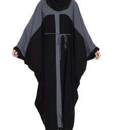 Dual Color Front Open Kaftan With Belt-Not An Abaya
