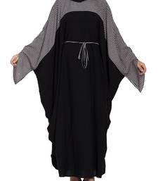 Dual Color Kaftan With Designer Sleeves & Belt-Not An Abaya