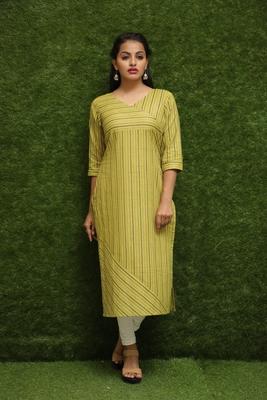 Women Yellow Kurti For Girls