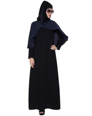 SHAIMA- CAPE STYLE ABAYA- BLACK & BLUE