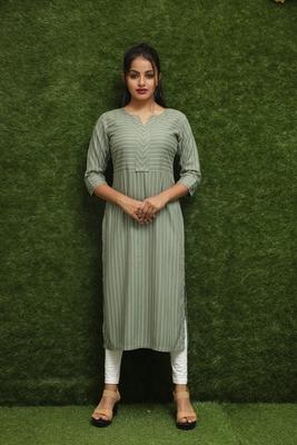 Women Green Long Kurti