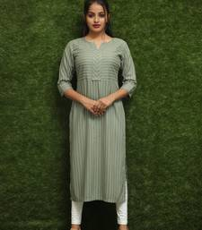 Women Green Long Kurti