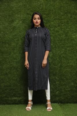 Women Black Readymade Kurti
