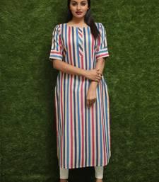Women Multicolour Readymade Kurti Dress For Girls