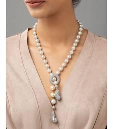 White shell pearls and Swarovski baroque pearls