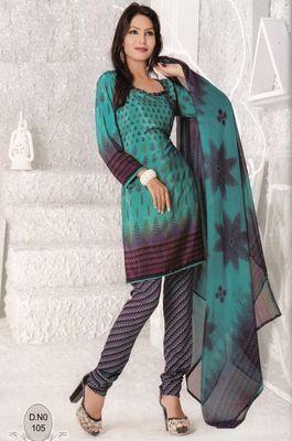 Dress Material Elegant French Crepe Printed Unstitched Salwar Kameez Suit D.No N105