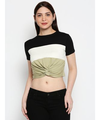 AMMARZO ONE SIZE S-M CROP TOP PISTA GREEN