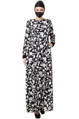 Musheco-Black & White Printed Dress.