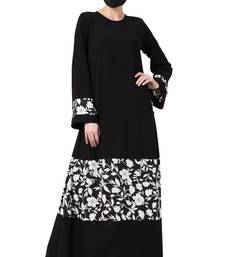 Musheco-Black Dress With Inserted Panel-Not An Abaya