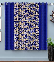 Blue Printed polyester Window Curtain