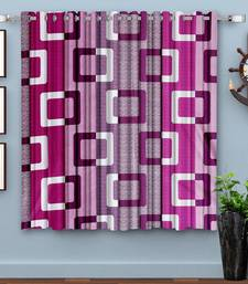Magenta Blue Printed polyester Window Curtain