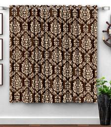 A Coffee Printed  Polyester Window Curtain