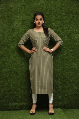 Girls Green Designer Kurti