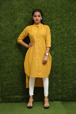Women Yellow Reguler Wear Kurti