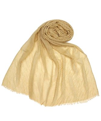 Stole for Women Choice - Limited Edition - Mesh Pleated Crinkled Stole - Golden