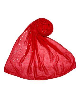 Stole For Women Choice - Premium Cotton Rain Drop Hijab - Red