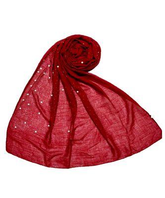 Stole For Women Choice - Premium Rich Cotton Rain Drop Hijab - Maroon