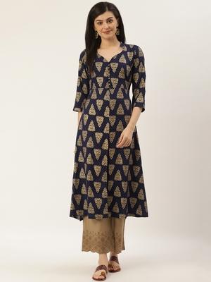 Varkha Fashion Rayon Collar Neck Slit Anarkali Kurta