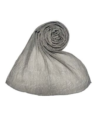 Stole For Women - All Time Best Seller - Crinkled Cotton Mesh Sparkling Women's Stole - Grey