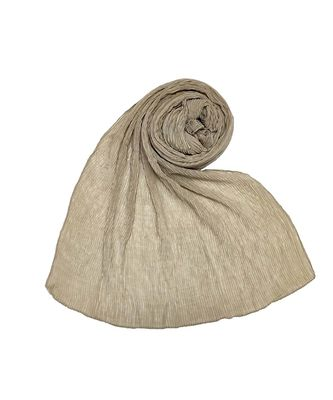 Stole For Women - All Time Best Seller - Crinkled Cotton Mesh Sparkling Women's Stole - Brownish Brown