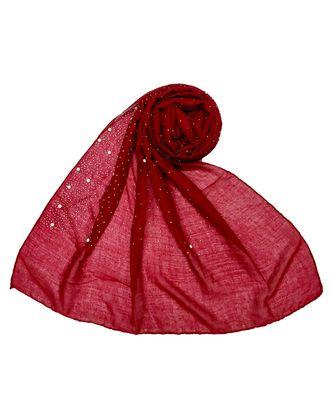 Stole For Women - RESTOCKED - BEST SELLER BACK IN STOCK - Premium Cotton Rain Drop Hijab - Maroon
