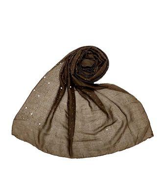 Stole For Women - RESTOCKED - BEST SELLER BACK IN STOCK - Premium Cotton Rain Drop Hijab - Dark Brown