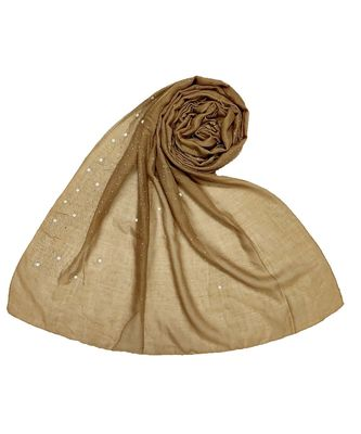 Stole For Women - RESTOCKED - BEST SELLER BACK IN STOCK - Premium Cotton Rain Drop Hijab - Brown