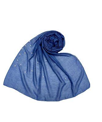 Stole For Women - RESTOCKED - BEST SELLER BACK IN STOCK - Premium Cotton Rain Drop Hijab - Blue