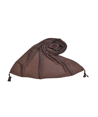 Best Selling Stole - Premium Cotton Fabric - Circular Design All Over The Stole With Fringe's At The Border - Maroon
