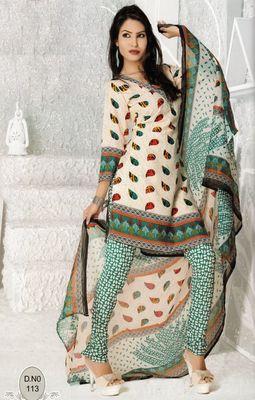 Dress Material Elegant French Crepe Printed Unstitched Salwar Kameez Suit D.No N113