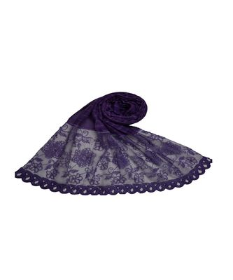 Best In Class - Best In Design - Rich Diamond Work - Stripes and Embroidered Liner With Cotton Blend Fabric - Purple