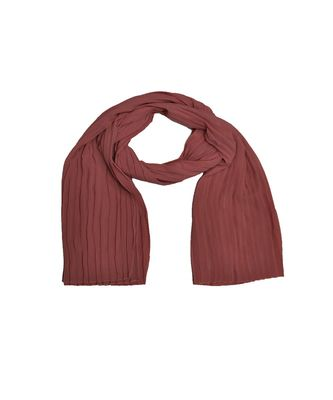 New Launch - Fabric : Chiffon Fabric - Quality On Point - Pleated Chiffon Hijab - Orange