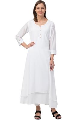 MRC Women Cotton Plain Cotton Kurti